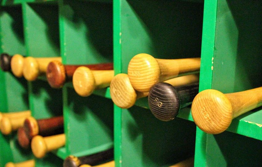 Baseball ⚾ Baseball Life Americana Sports Photography Baseball Bats Baseball - Sport Baseball Stadium Baseball Season Bat Box The Still Life Photographer - 2018 EyeEm Awards Sport Indoors  Close-up Baseball Bat Wood - Material Sports Equipment Leisure Activity