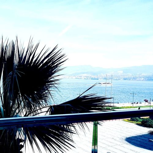 Sky And City Day Sea View View From The Window... Izmir Blue Sky İzmir City Egesea Cruise Ship Freshness ☺👌💙