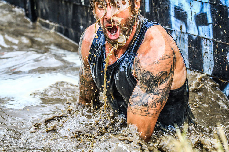 Adult Day Lifestyles Motion Mud One Person Spartanrace-Várgesztes Spartanrace2018 Water