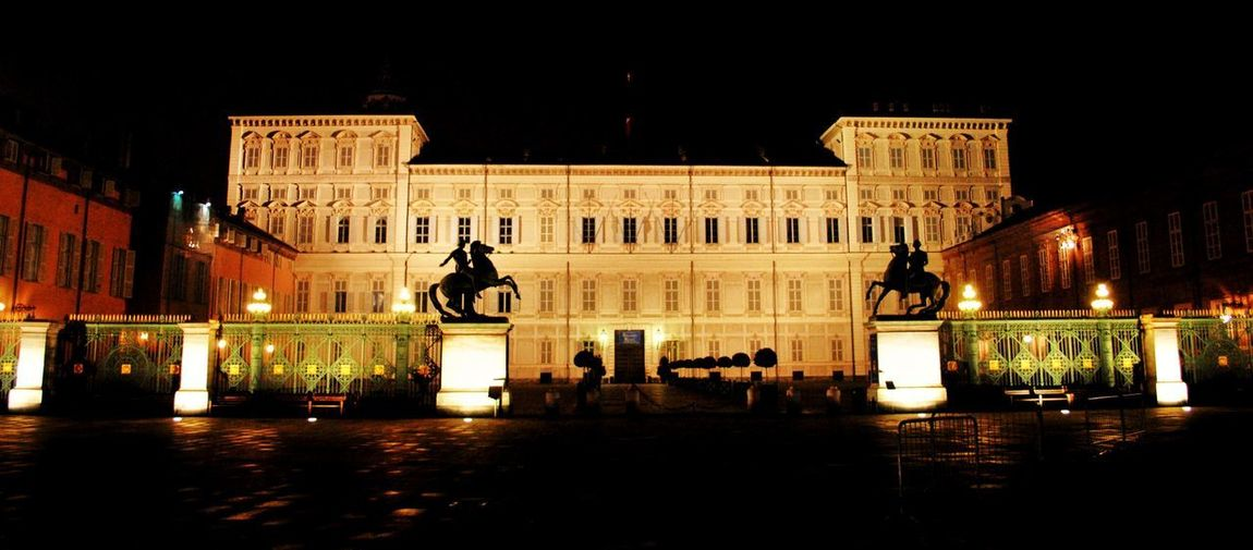 Regale Torino Architecture Art And Craft Building Building Exterior Built Structure Canal Citta City Equestre Government History Human Representation Illuminated Nature Night No People Notturna Palazzo Storico Reflection Representation Sculpture Statue Street The Past Travel Destinations Water