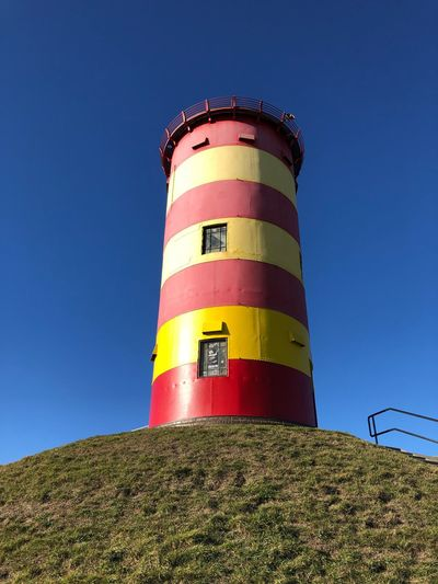 Low Angle View Built Structure Lighthouse Tower
