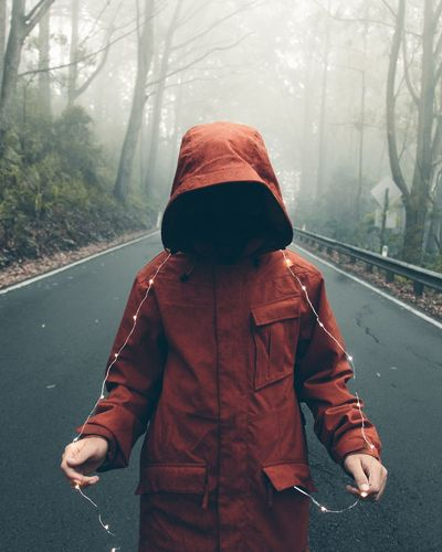 Cold Temperature Winter One Person Jacket Casual Clothing Rear View People Outdoors First Eyeem Photo