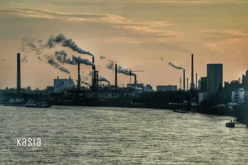 Germany Duisburg Ruhrort Industry Rhein River