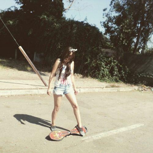 Skater Girl Skateboarding Skate Legs Long Hair Hipster Sk8 Pale Red Lips Skinny