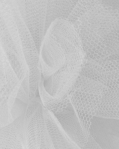 Texture Pouf Tulle Nylon Netting Pompom Macro White Fyp_whiteonwhite