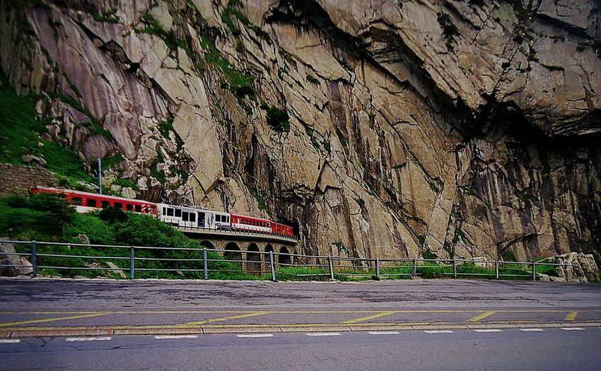 Take My Breathe Away Switzerland Alps Train Pass The Rock FOLOW  Nice Shot