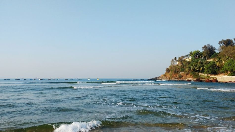 Beach Blue Nature Wave Travel Destinations No People Beauty In Nature Beautiful Nature Scenic Photograghy Nature Lover Nature_collection Beautiful Nature Photography Nature_perfection Travel Photography Taking Photos Betterlandscapes Beauty In Nature Scenics Nature Goatrip Goadiaries Goa India