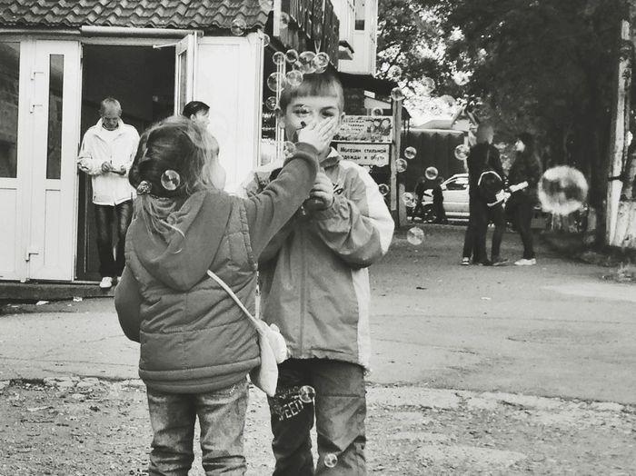 The childrens fun Taking Photos Peoplephotography Enjoying Life Street Life Sakhalin Summer My Sity Children People Sound Of Life