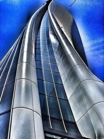 City Life Low Angle View No People Nature Sky Architecture Built Structure Blue City Metal