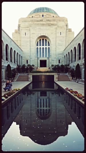 Being Cultured Taking Photos War Memorial Getting Inspired Lest We Forget Poppy Flowers Memories Memorial Fountain Reflection Reflections