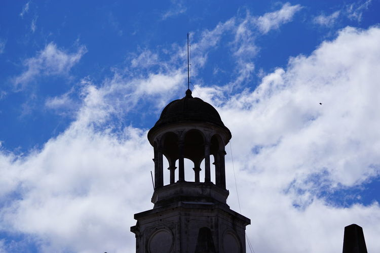 Municipalidad de a ciudad de Río Cuarto, Córdoba, Argentina. Architecture Building Exterior Built Structure Cloud - Sky Day Low Angle View No People Outdoors Religion Sky