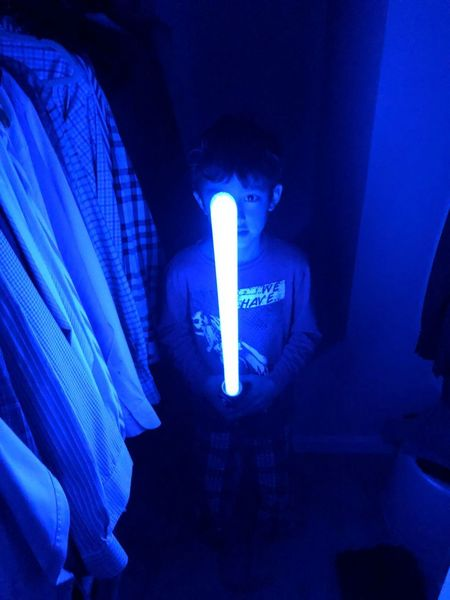 Blue Sky Illuminated Indoors  Real People Lighting Equipment One Person Night Human Body Part