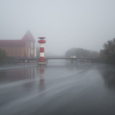 Leuchtturm Rathenow Architecture Beauty In Nature Building Exterior Built Structure Copy Space Day Fog Foggy Havelland Mist Nature No People Outdoors Scenics Sky Tranquility Water Weather