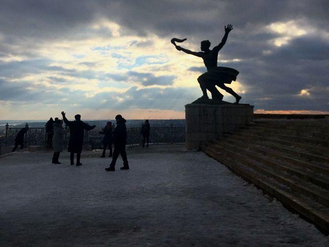 Budapest Cittadella Hungary Sky Colors Winter Angel