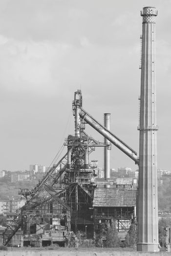 High Angle View Of Industry Against Sky