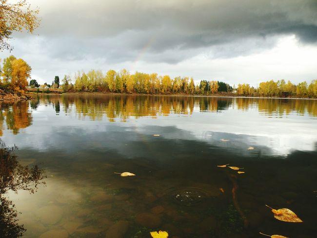 Oregon City Clackamette Park Very Faint Rainbow