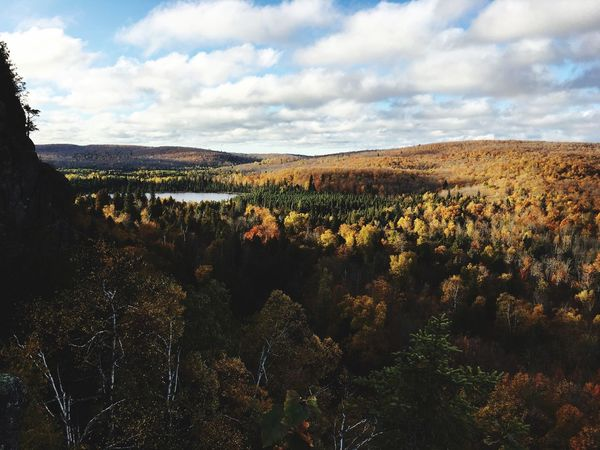 Indian Summer Mountain View View Hiking Minnesota Indian Summer Landscape Nature Sky Beauty In Nature Tranquility Cloud - Sky Tranquil Scene Outdoors No People Scenics Mountain Day Tree