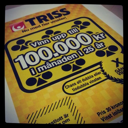Håller tummarna, jag kanske delar med mig ;) Triss Plötsligthänderdet Miljonär
