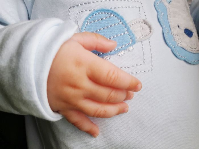Human Body Part Indoors  One Person Human Hand People Hygiene Close-up Childhood Child Baby Babyboy Boy Hand Baby Hand Blue Detail Close Up