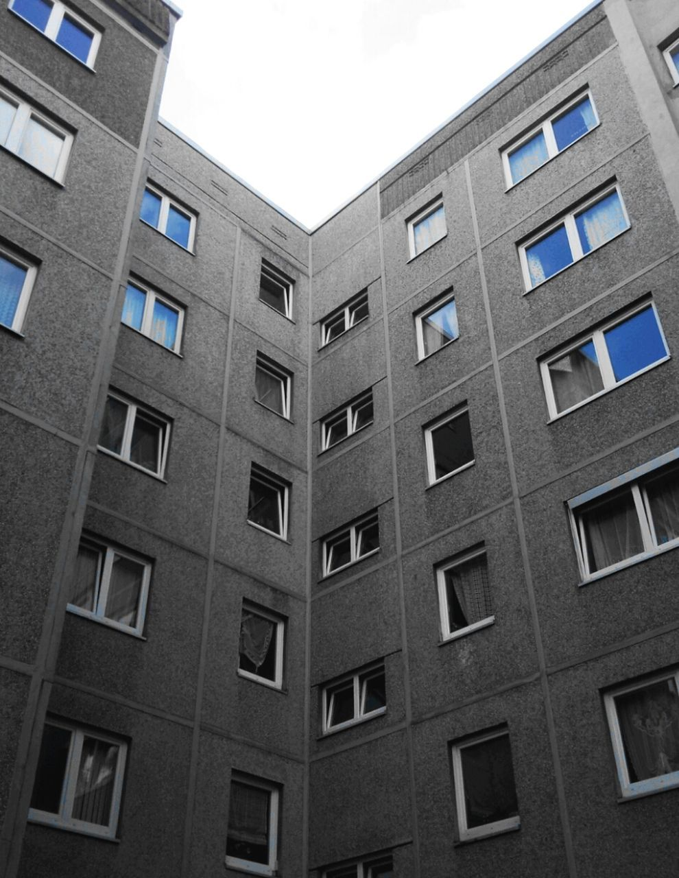 window, architecture, building exterior, built structure, low angle view, conformity, no people, city, day, outdoors
