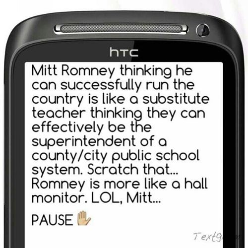 Romney needs to Chill Obama2012