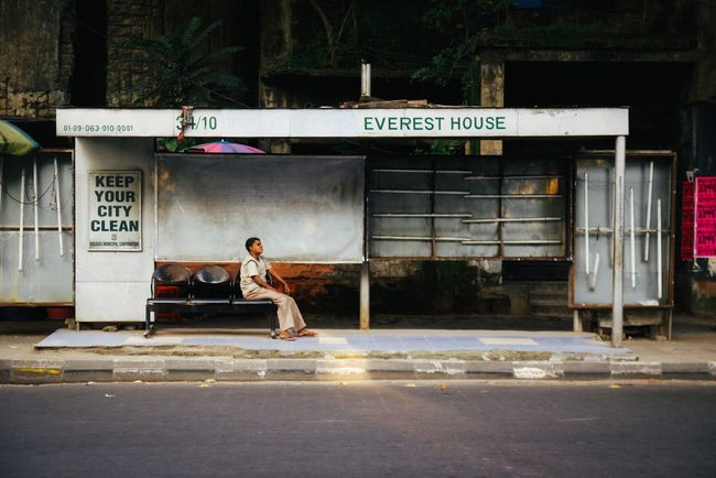 India Incredible India Kolkata ASIA The Week On Eyem Bus One Person Street Busstop City VSCO Check This Out Incredibleindia Eye4photography  EyeEm Best Shots Travel Photography Documentary Colorful Journey Vscocam Colours The Week Of Eyeem Streetphotography Miles Away Transportation