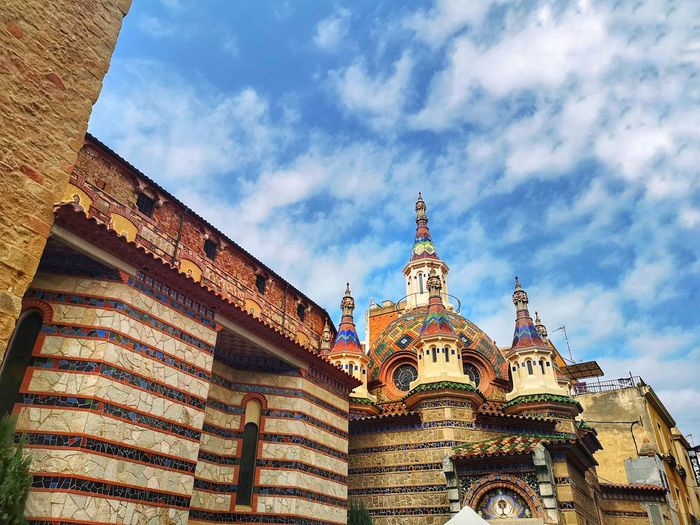 SPAIN Lloretdemar Heritage Historic Historicbuilding Church Monument Monumental  Exteriordesign Tower Dome Europe Composition Contrast Perspective España Catalonia Catalunha Outdoor Lightandshadow Costabrava City Place Of Worship History Sky Architecture Building Exterior Built Structure Temple