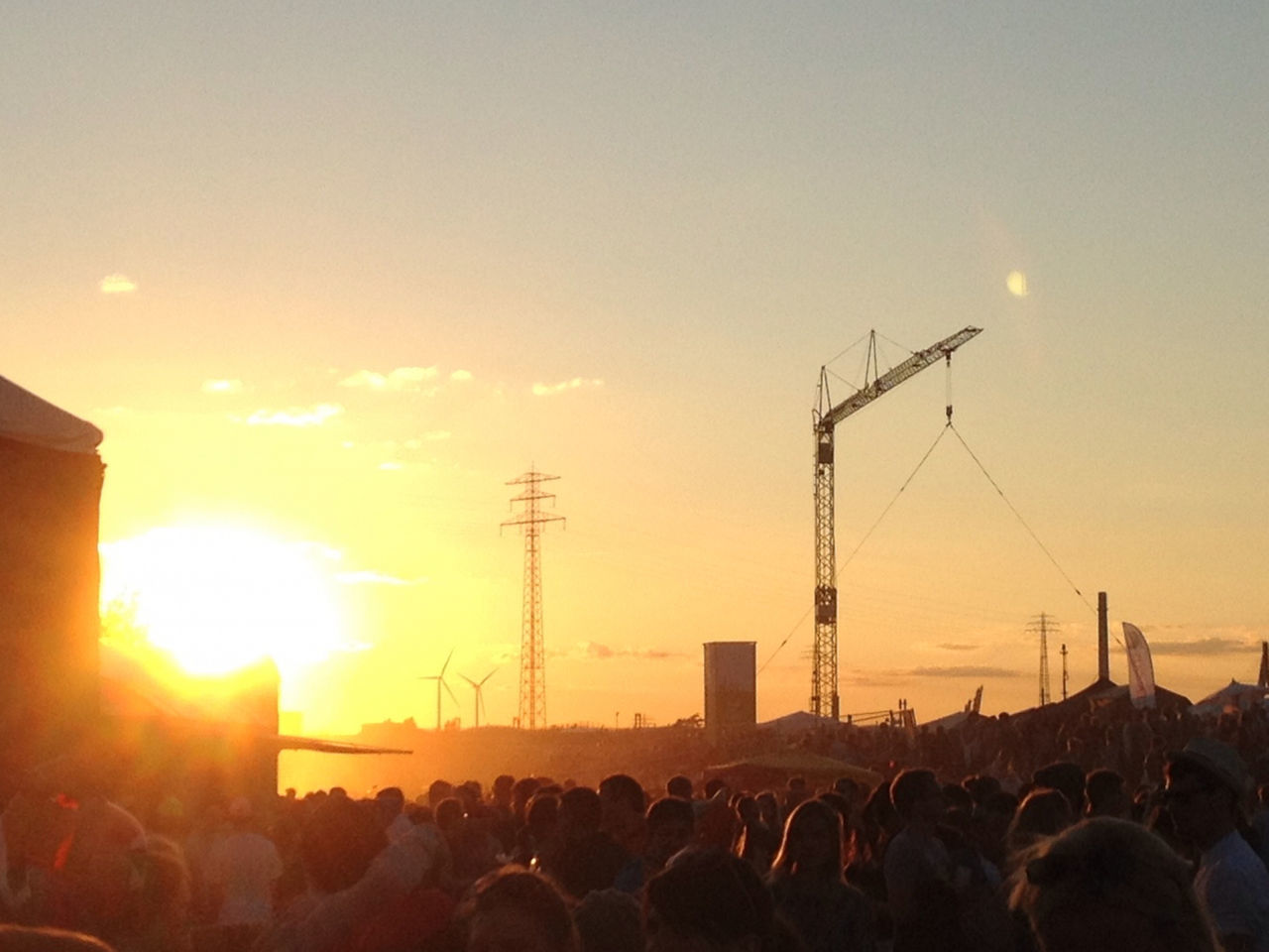 Crowd during sunset