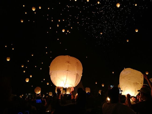 Feel The Journey Floating Floating Lanterns Lanterns Paper Festival Glowing Fire People Crowd Traveling Memories Family Lights Original Experiences 43 Golden Moments Showcase June