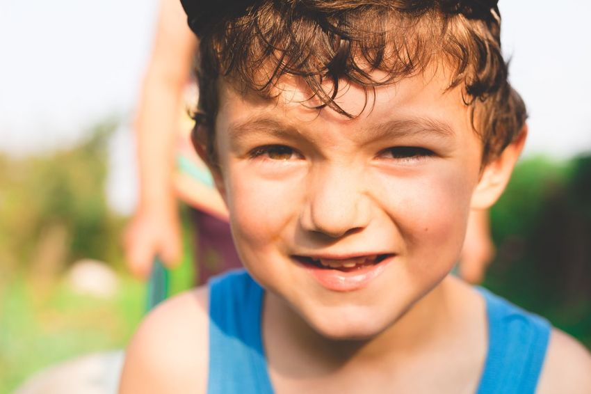 Enjoy The New Normal My Year My View Looking At Camera Portrait Headshot Boys One Person Front View Real People Focus On Foreground Outdoors Close-up Childhood Day People Always Be Cozy The Portraitist - 2017 EyeEm Awards
