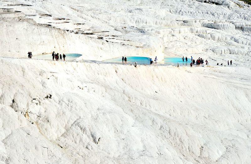 People at pamukkale