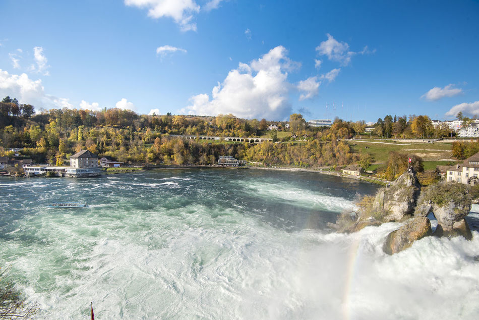 Autumn Nature Rheinfall Sightseeing Beauty In Nature Biggest Cloud - Sky Day Landmark Nature Outdoors Scenics Sky Switzerland Vacation Water Waterfall