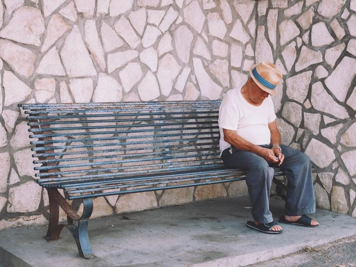 mellow italian man on capri Bench Capri Mellow