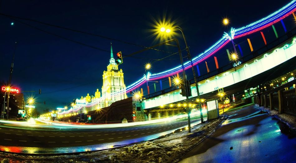 Lyrics On My Mind 📌I'm the light blinking in the end of the road | Blink back to let me know... ;) Night Moscow Long Exposure Fisheye Lens City Lights