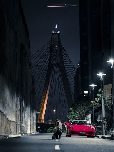 Street shot of Anzac Bridge in Sydney, Australia ANZAC Bridge Australia Ferarri Night Photography Nightphotography Architecture Australian Photographers Bridge Bridge - Man Made Structure Night Sydney Transportation EyeEmNewHere TheWeekOnEyeEM Mobility In Mega Cities Stories From The City The Traveler - 2018 EyeEm Awards The Street Photographer - 2018 EyeEm Awards HUAWEI Photo Award: After Dark #urbanana: The Urban Playground Be Brave