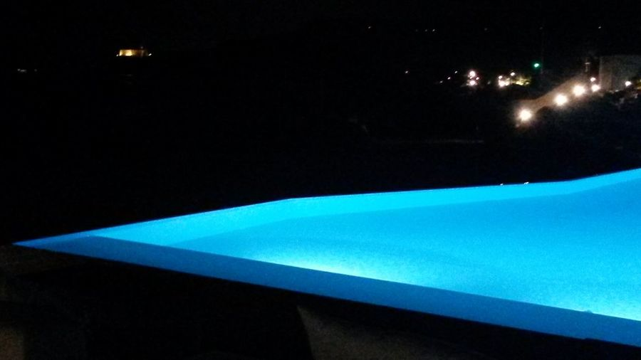 Blue Cold Temperature No People Outdoors Poolside Swiming Pool Swimingpool Geometric Shape Luxury Night Swimming Pool Illuminated Water Tranquil Scene Triangle Shape Piscina Duino Castle Night View