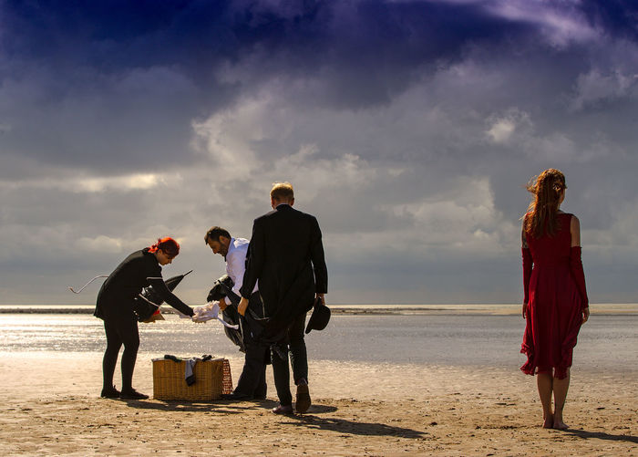 Another singing butler Adult Beach Cloud - Sky Full Length Group Of People Horizon Horizon Over Water Land Leisure Activity Lifestyles Men Nature Outdoors People Real People Sand Sea Sky Togetherness Water Women