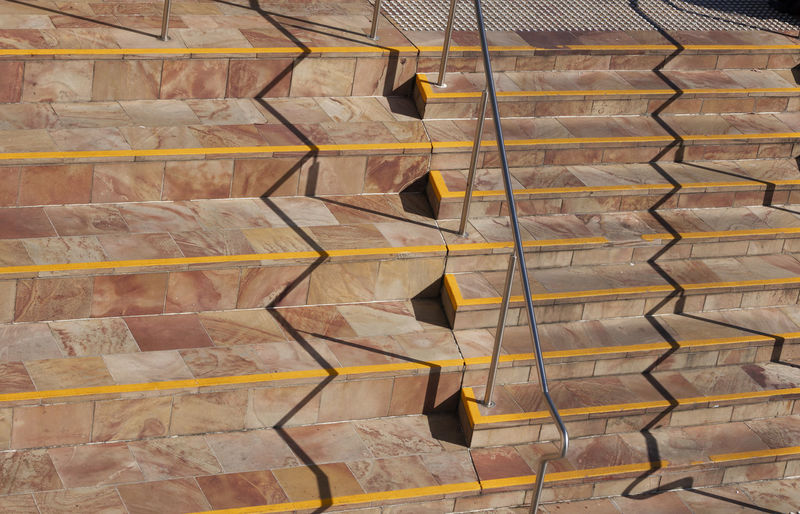 Full Frame Backgrounds Pattern No People Large Group Of Objects Day In A Row Abundance Built Structure Architecture Outdoors Arrangement Stack Order Design Shape Close-up Stairs Yellow Shadow