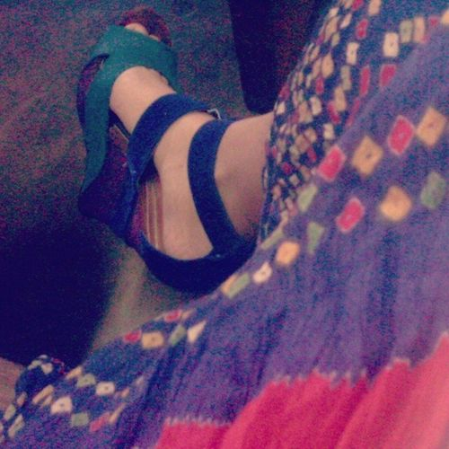 Whut? Tb Teal Prp Tribe fashion wedge shoes