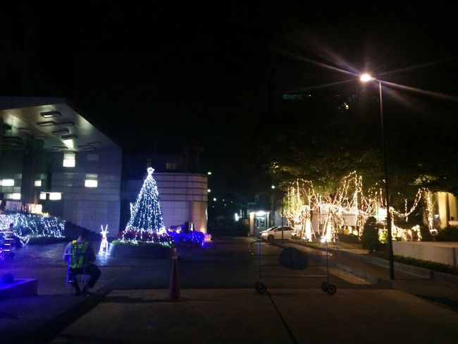 My office after party....ยามเหงา Light Chirstmas Tree Chirstmas Night Lights