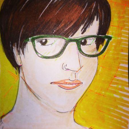 Self portrait feb. 2017 Portrait Yellow Illustration Sketch Draw Selfie ;)