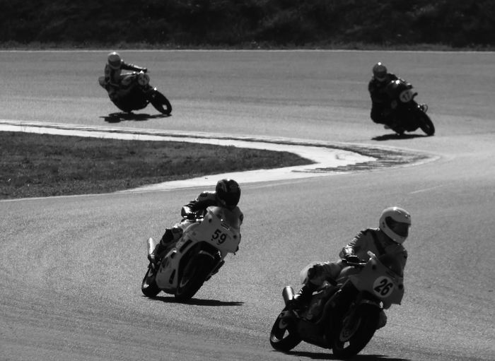 Motorcycle Race Black And White Competition Competition Day Day Double Curve Monochrome Outdoors People Welcome To Black Four People