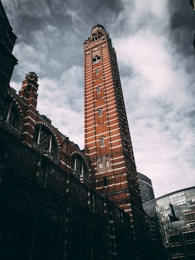 Westminster Cathedral IPhone IPhoneography Low Angle View Sky Cloud - Sky Architecture Built Structure Building Exterior Nature No People Building Tall - High Tower City Travel Destinations Day Outdoors Travel History