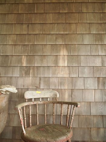 Deer Isle, Maine Folk Art  Chair Americana Deer Isle Maine Wall - Building Feature Wall Day No People Built Structure