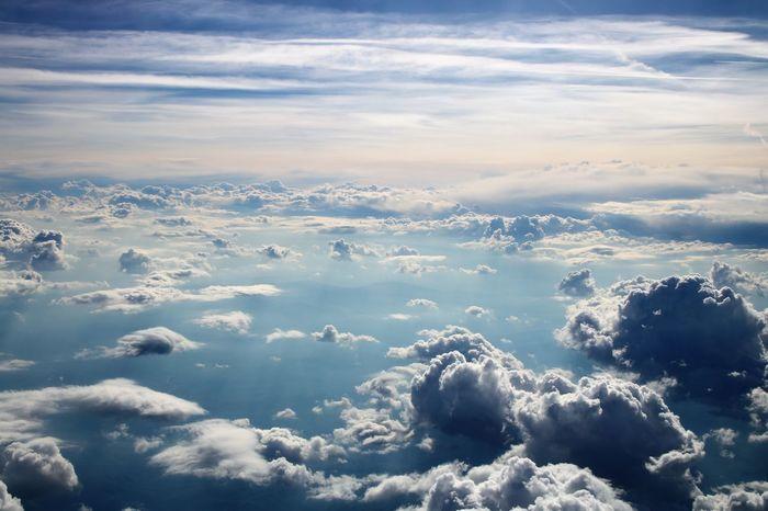 sky from flight Cloud - Sky Flyght Blue Sky Beach Of Good Paradise EyeEmNewHere Go Higher