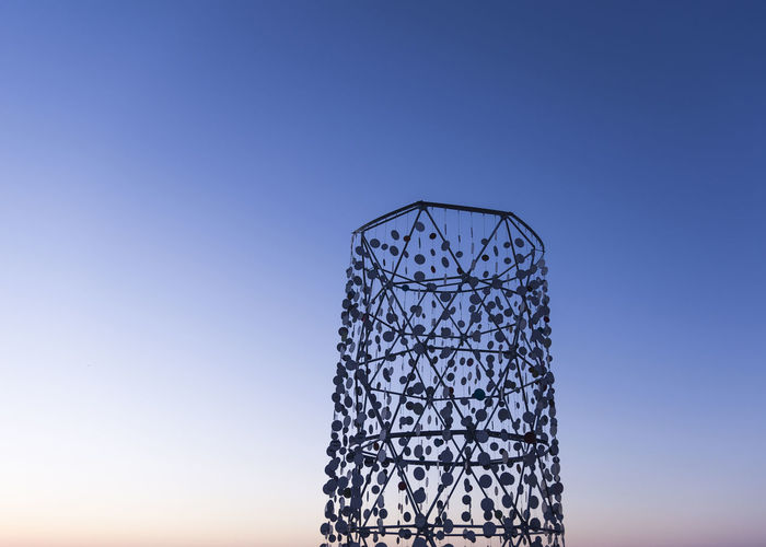 Havana's Art Biennial Clear Sky Structure Havana Art Havana, Cuba Street Metal Scenic Sky Calm Grid Silhouette Outline Sunset Hexagon Modern Art
