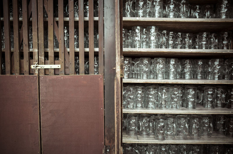 Mug locker Abandoned Absence Abundance Arrangement Beer Museum Close Up Collection Design Exterior Full Frame Geometry Home Interior Indoors  Large Group Of Objects Music Mßkrug No People Order Pattern Repetition Self Service Side By Side Structure Wood Wooden