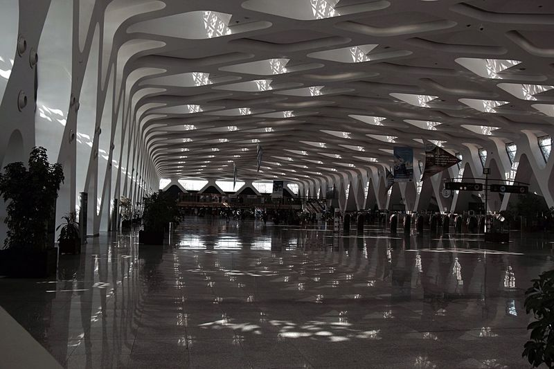 Menara aéroport Architecture Reflection Indoors  Built Structure Large Group Of People Modern Day Sky People Aeroport ✈ Menara Marrakech Focus On Foreground Close-up African Travel Photography Rituals & Cultural