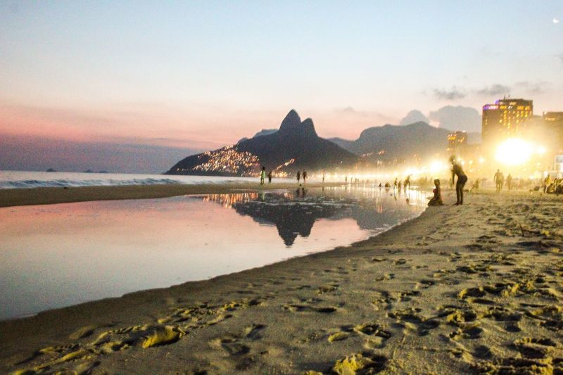Rio de Janeiro reflection Rio De Janeiro Eyeem Fotos Collection⛵ Rio De Janeiro Sky Water Beach Sunset Land Beauty In Nature Nature Scenics - Nature Sea Lifestyles Mountain Reflection Holiday Sun The Traveler - 2019 EyeEm Awards