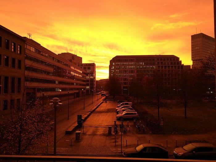 Moin aus der Hauptstadt. Berlin Germany Sunrise Sonnenaufgang Auswaertigesamt Architecture Urban Skyline